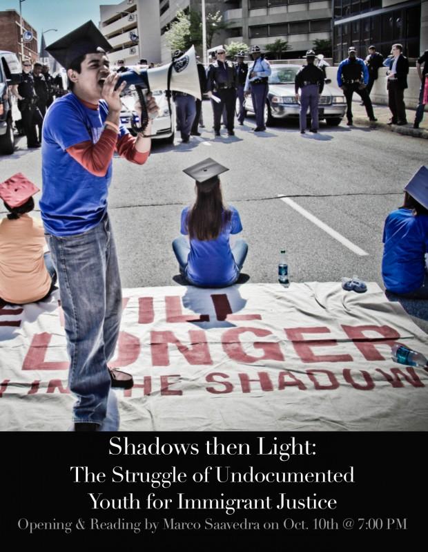 shadows then light postcard