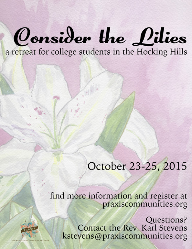 consider the lilies retreat